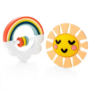 Happy Rainbow Baby Teether Set
