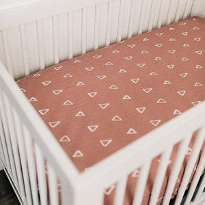 Blush Fitted Baby Crib Sheet