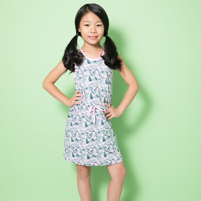 Evelyn Girls Palm Leaf Dress