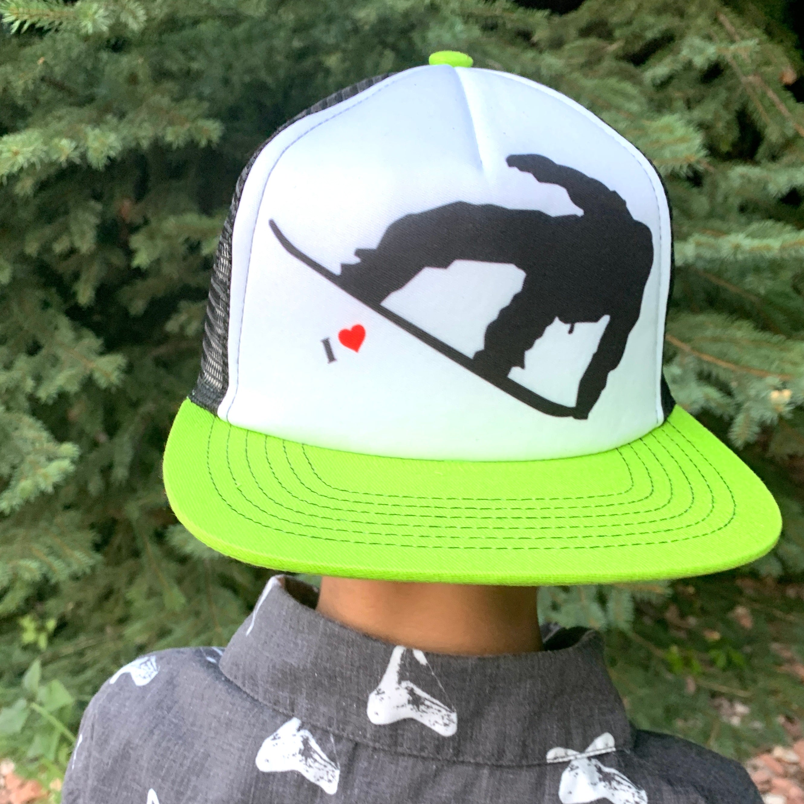 Snowboard Love Kid's Trucker Hat