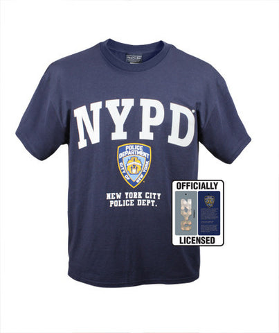Officially Licensed NYPD Blue Police Cotton T-Shirt