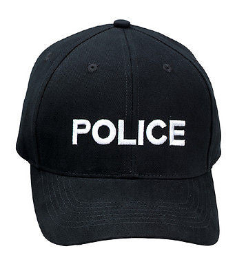 Black Police Supreme Low Profile Insignia Cap