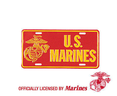 US Marines License Plate Official Issue