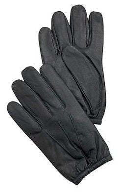 Kevlar Lined Black Leather Police Duty Search Gloves