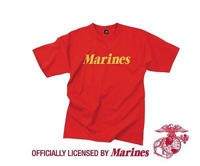 Official Issue MARINES Red Physical Training T-Shirt