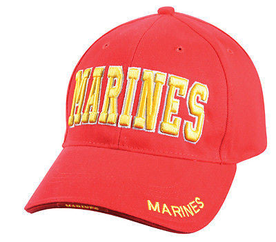 Deluxe Red W/ Gold Marines Low Profile Cap