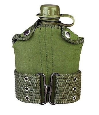 ROTHCO PLASTIC CANTEEN AND PISTOL BELT KIT - OLIVE DRAB