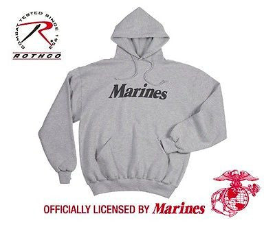 Official Marines Issue Pullover Hooded Sweatshirt - Grey