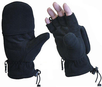 Military Black Fleece Tactical Sniper Gloves