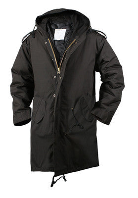 Black Military M-51 Fishtail Parka Jacket