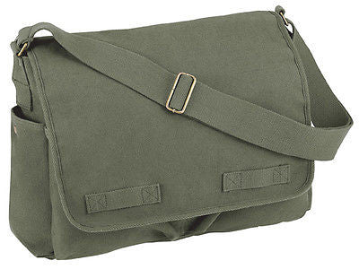 Military Olive Drab Classic Messenger Bag