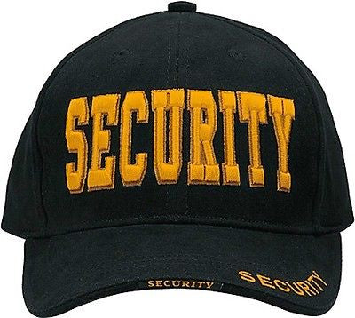 Black W/ Gold Security Deluxe Hat Low Profile Insignia Cap