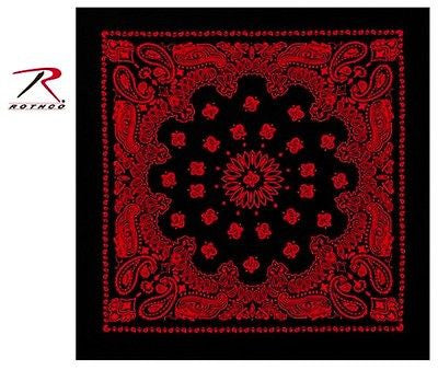 Black W/ Red Trainmen Bandana