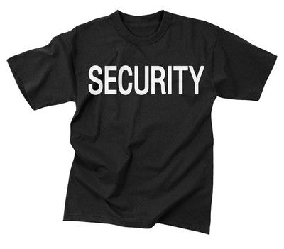 Security Black Double-Sided Raid T-Shirt
