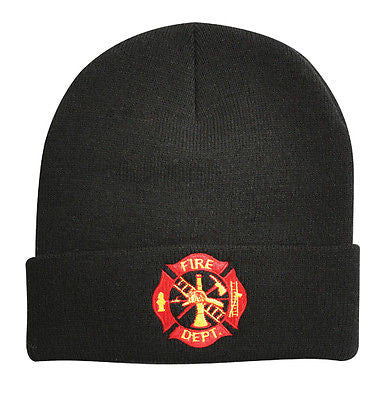 Fire Department Deluxe Embroidered Watch Cap