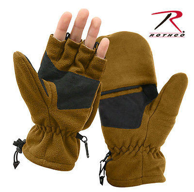 Military Coyote Fleece Sniper Gloves