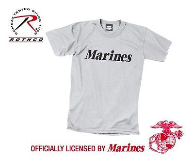 Official Issue MARINES Grey Physical Training T-Shirt