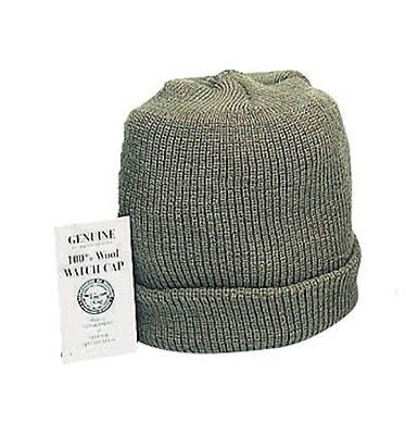 Genuine Army Olive Drab Wool Watch Cap Made in the USA