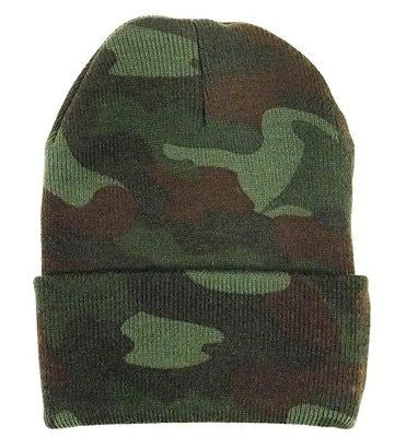 Deluxe Woodland Camo Watch Cap