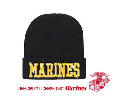 Deluxe Marines Embroidered Watch Cap Officially Licensed by US Marines