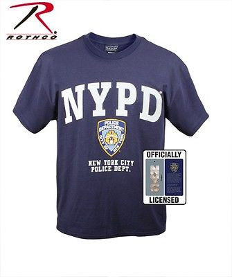 Genuine NYPD Officially Licensed Navy Blue Police T-Shirt