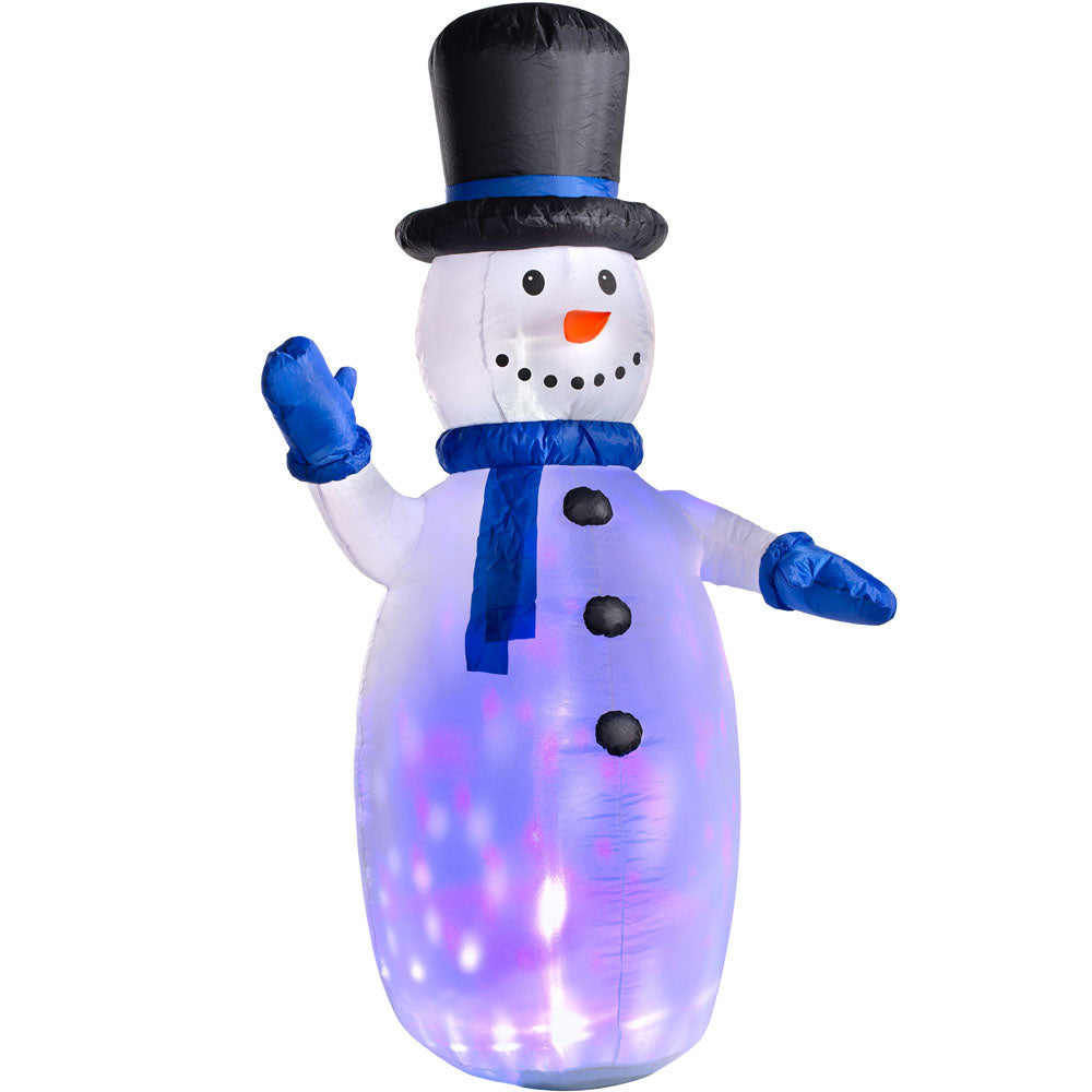 Pre-Lit Animated Inflatable Snowman  6 ft / 1.8 m