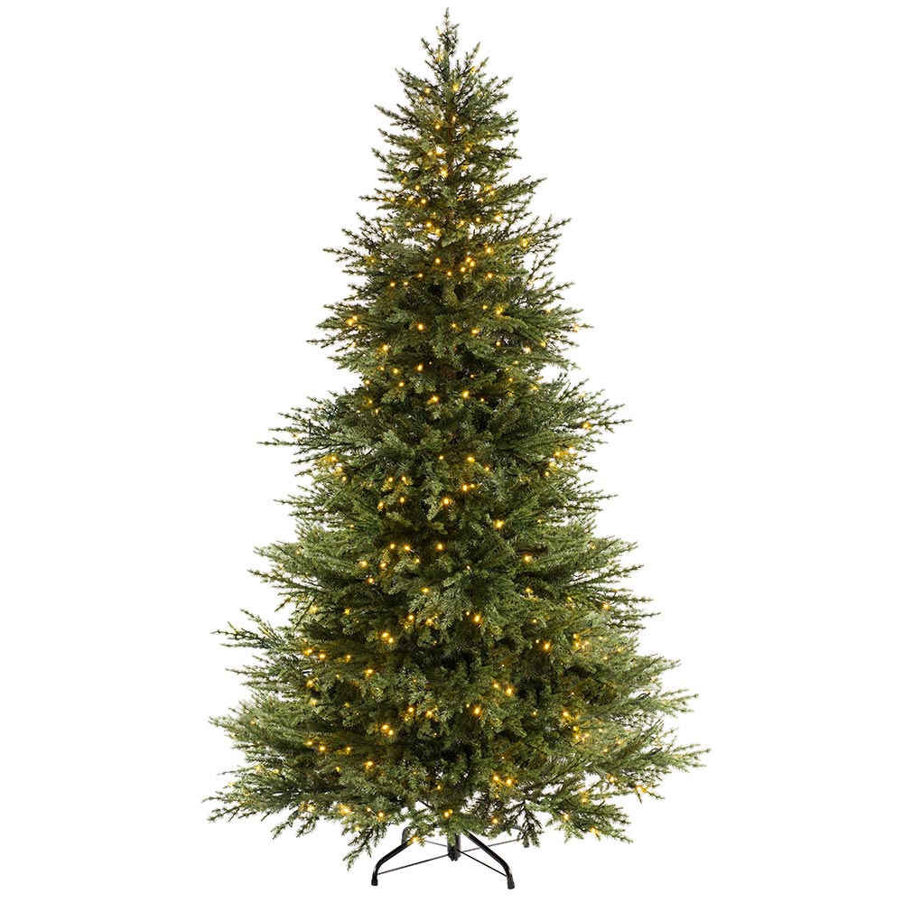 Pre-lit Traditional Fir Multi-Function Christmas Tree