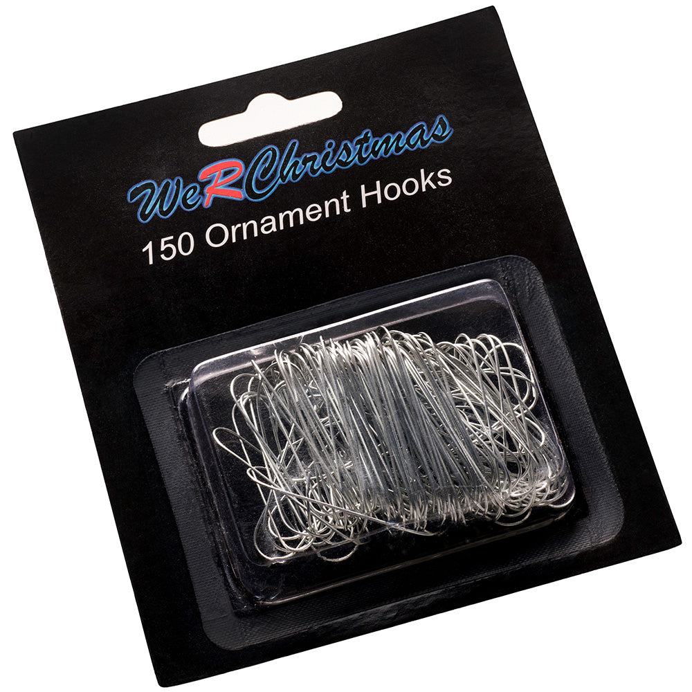 Bauble Ornament Hooks, Silver 3.5cm, Pack of 150