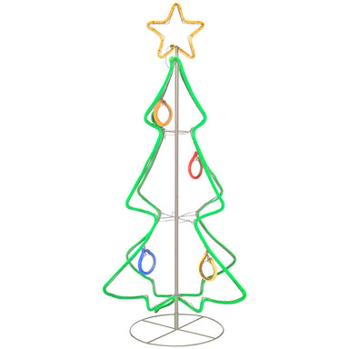 3D Christmas Tree Neon Rope Light Silhouette 150 cm