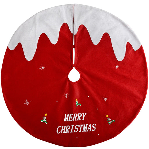Christmas Pudding Tree Skirt Decoration, 102 cm - Large, Red/White