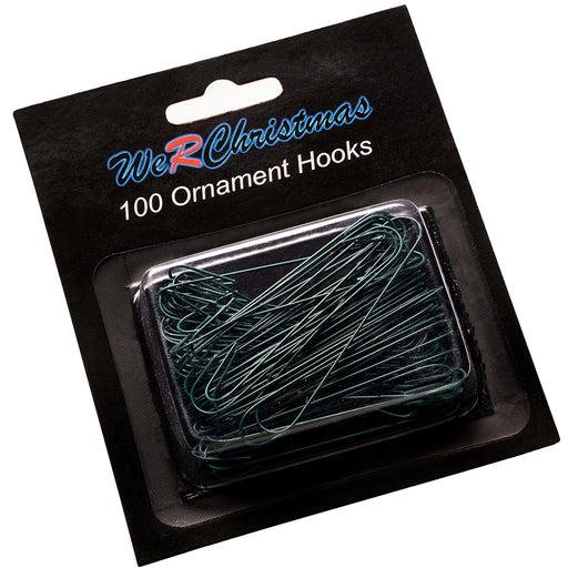 Bauble Ornament Hooks, Green 6cm, Pack of 100