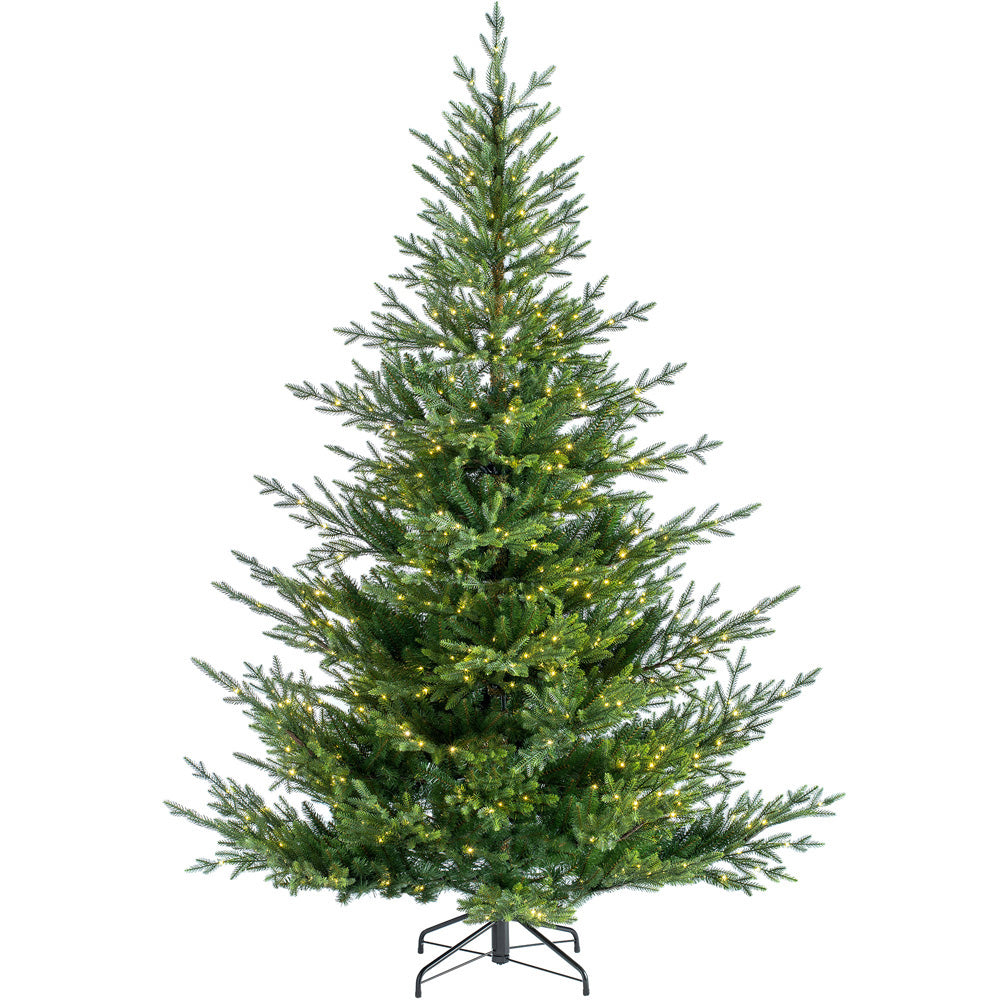 Pre-Lit Douglas Fir Christmas Tree with Multi-Function Warm White Micro LEDs