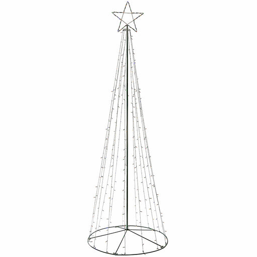 Pre-Lit LED Pop Up Christmas Tree, Multi-Colour, Multi-Colour, 360 cm, Large