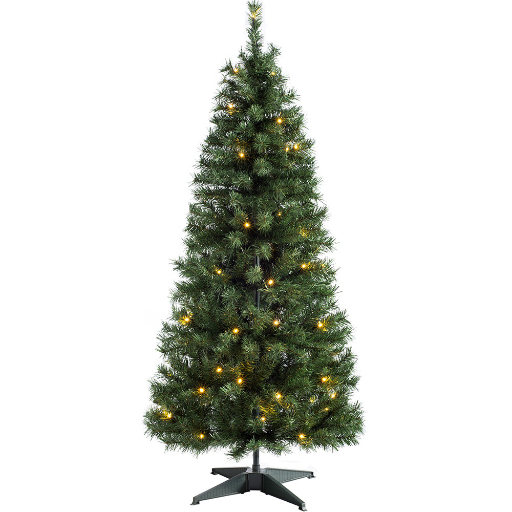 Pre Decorated Highland Flocked Christmas Tree with Warm White LEDs