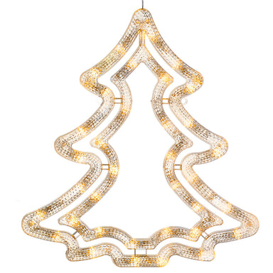 35 LED Christmas Tree Silhouette, 37 cm - Warm White