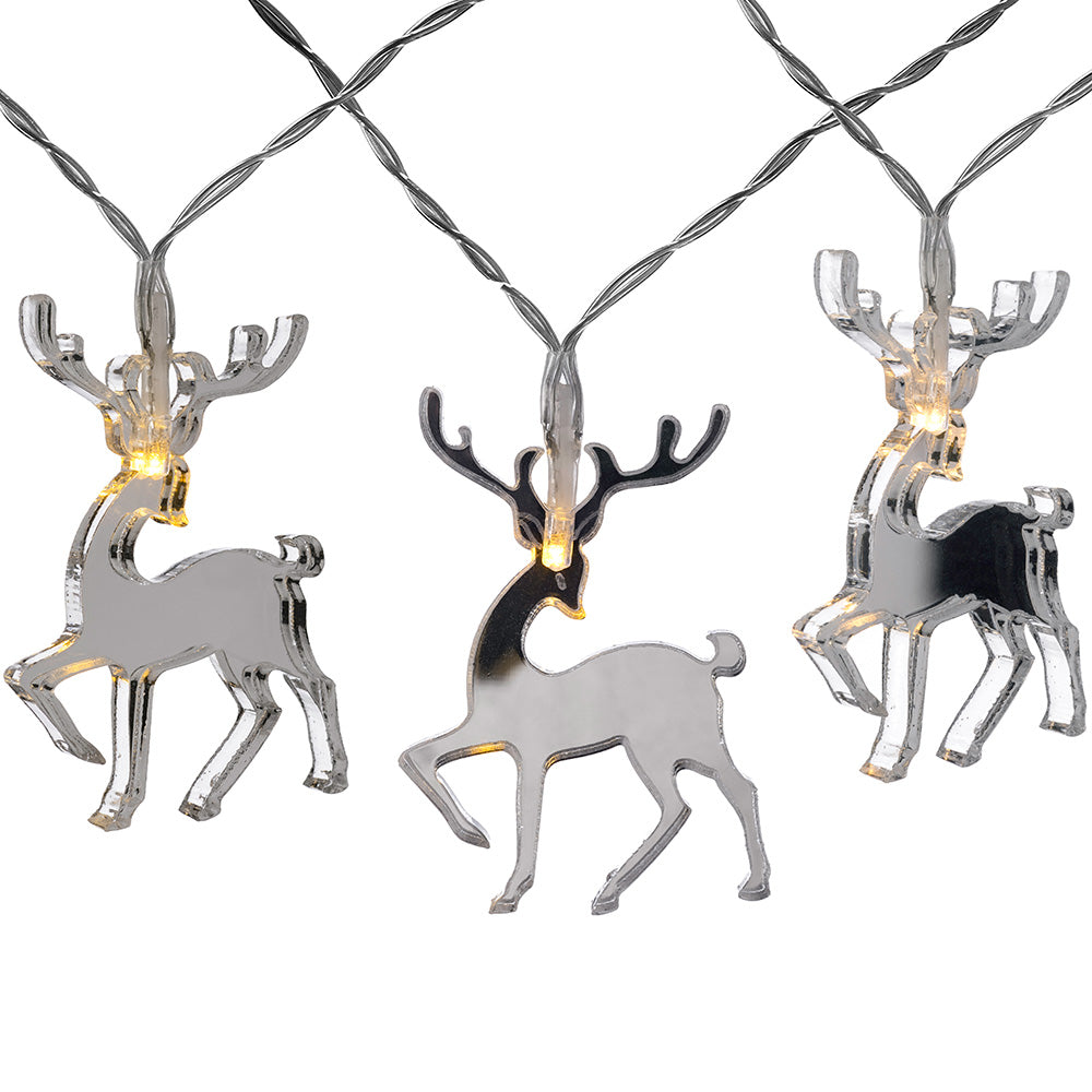 20 Reindeer LED Light String, Mirror, 3m