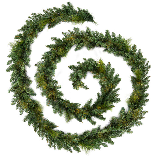 Plain Garland Christmas Decoration 18 ft - Green