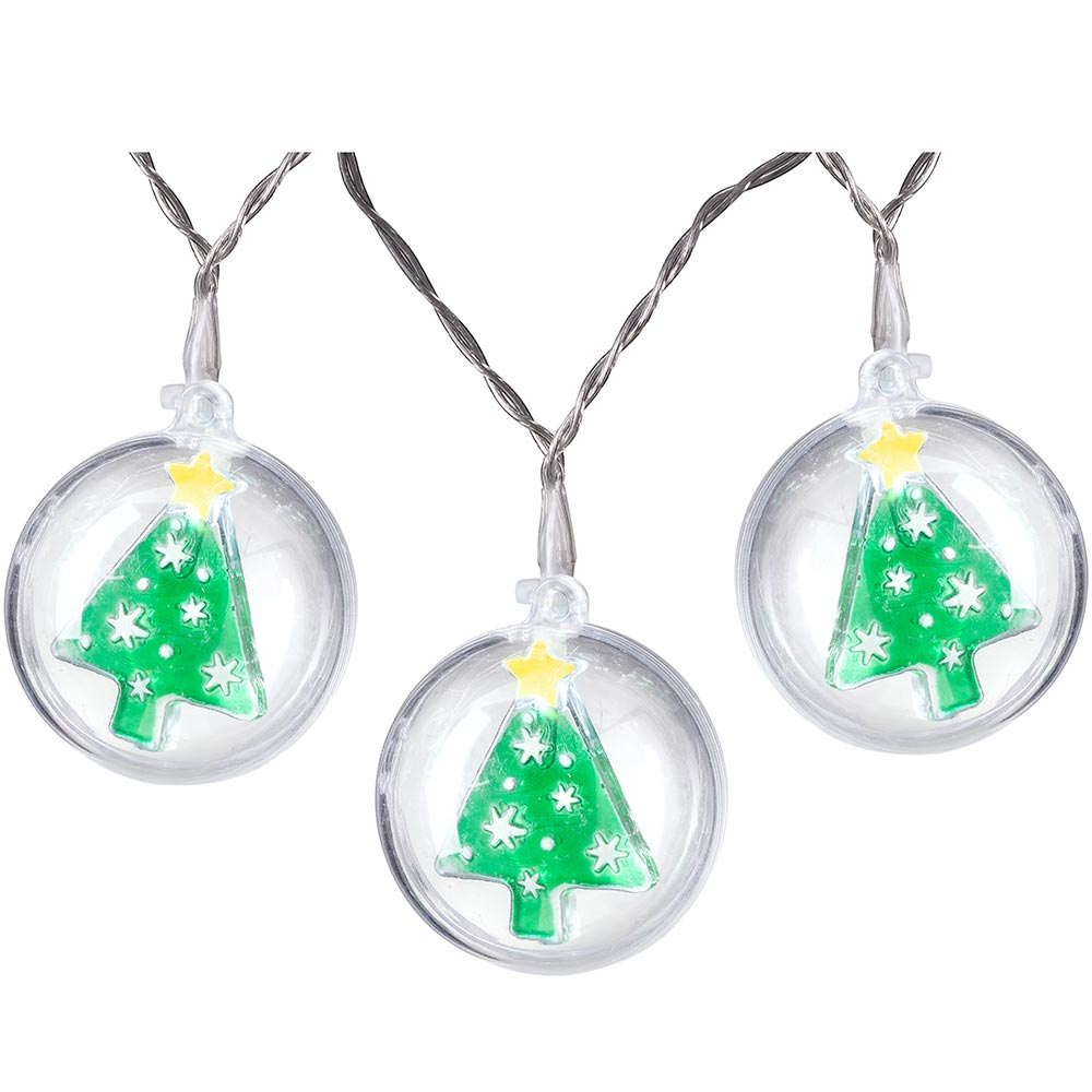 Pre-Lit Bauble LED Light String, Bright White, 1.8m