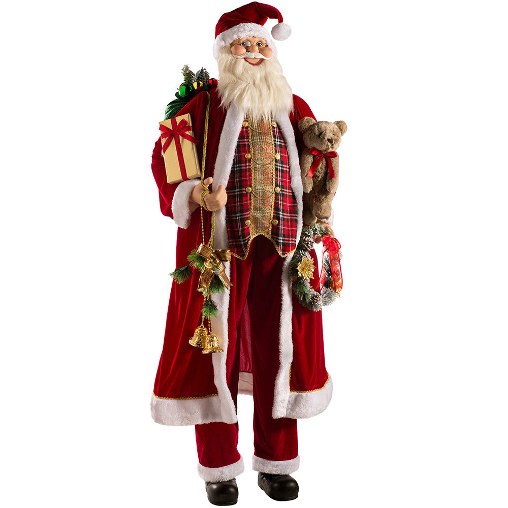 Life Size Standing Santa Christmas Decoration, 180cm