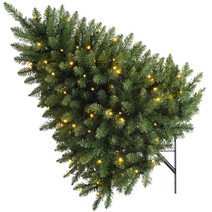 3 Foot Prelit Christmas Trees.Pre Lit Wall Mounted Tree Multi Function Led Lights 3 Feet 90cm