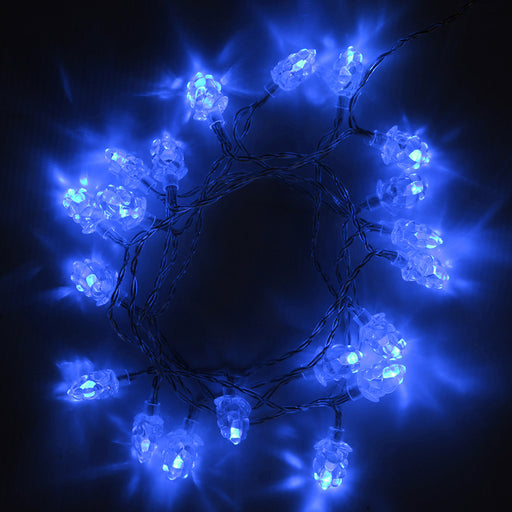 20 LED Christmas Tree Lights String with Berry Shade and Cable, 1.5 m - Blue