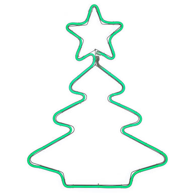 Christmas Tree Neon Rope Light Silhouette 53 cm