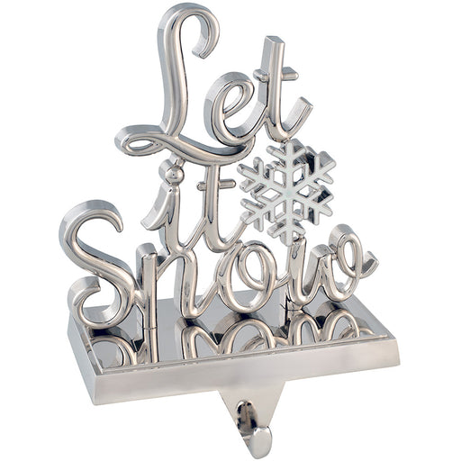 Let it Snow Stocking Holder 17 cm