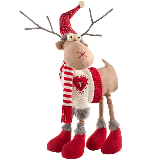 Standing Christmas Reindeer Figurine with Four Legs 41 cm