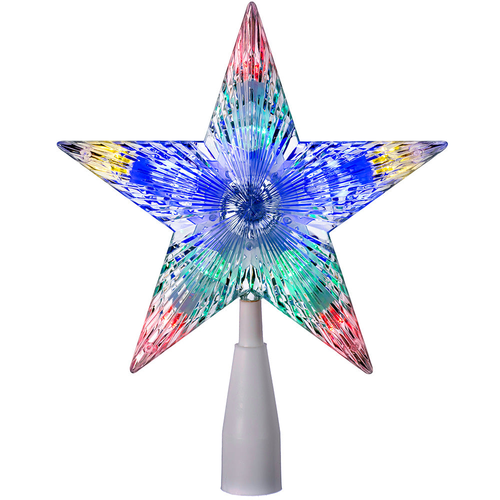 Star Tree Topper, LED Lights, Multi-Colour, 23 cm