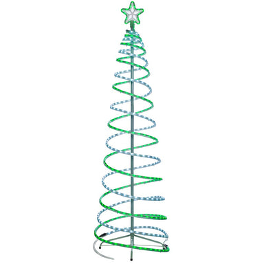 3D Neon Spiral Christmas Tree Green 6 ft / 1.8 m