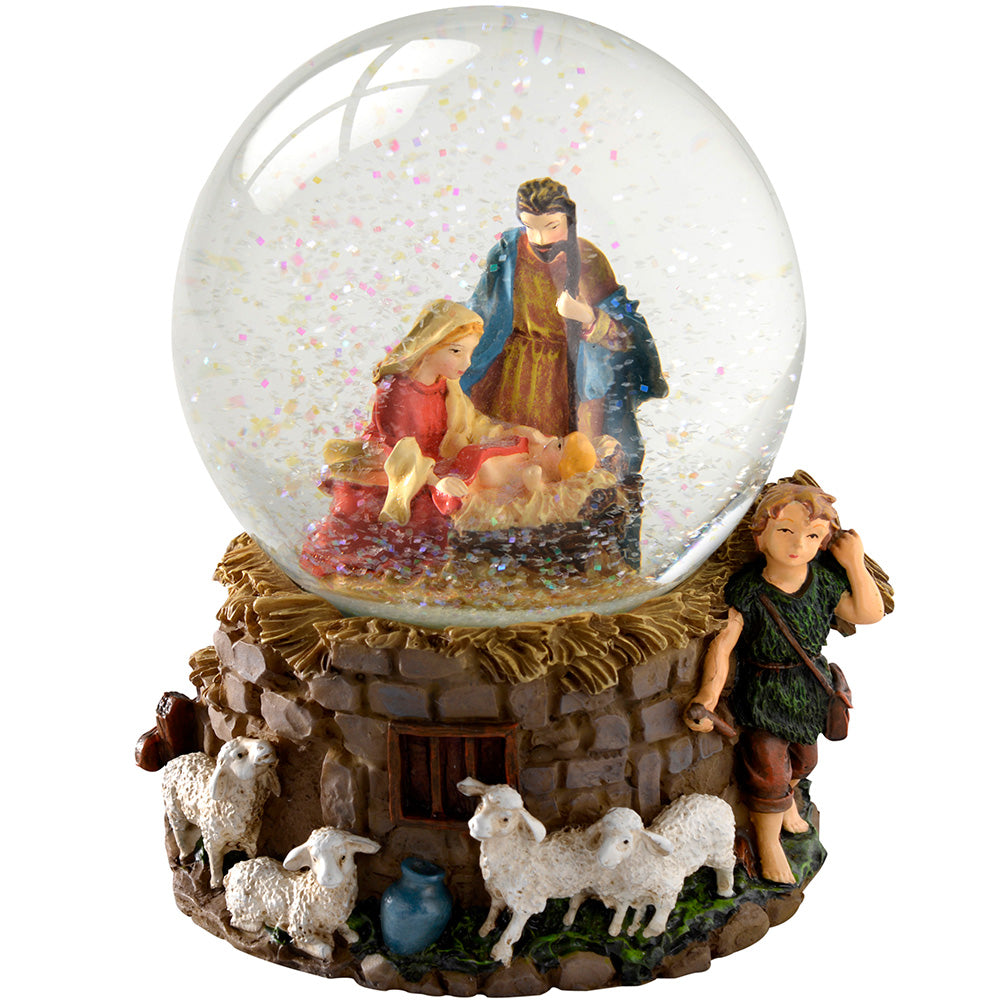 Nativity Scene Snow Globe Christmas Decoration, 14 cm - Multi-Colour