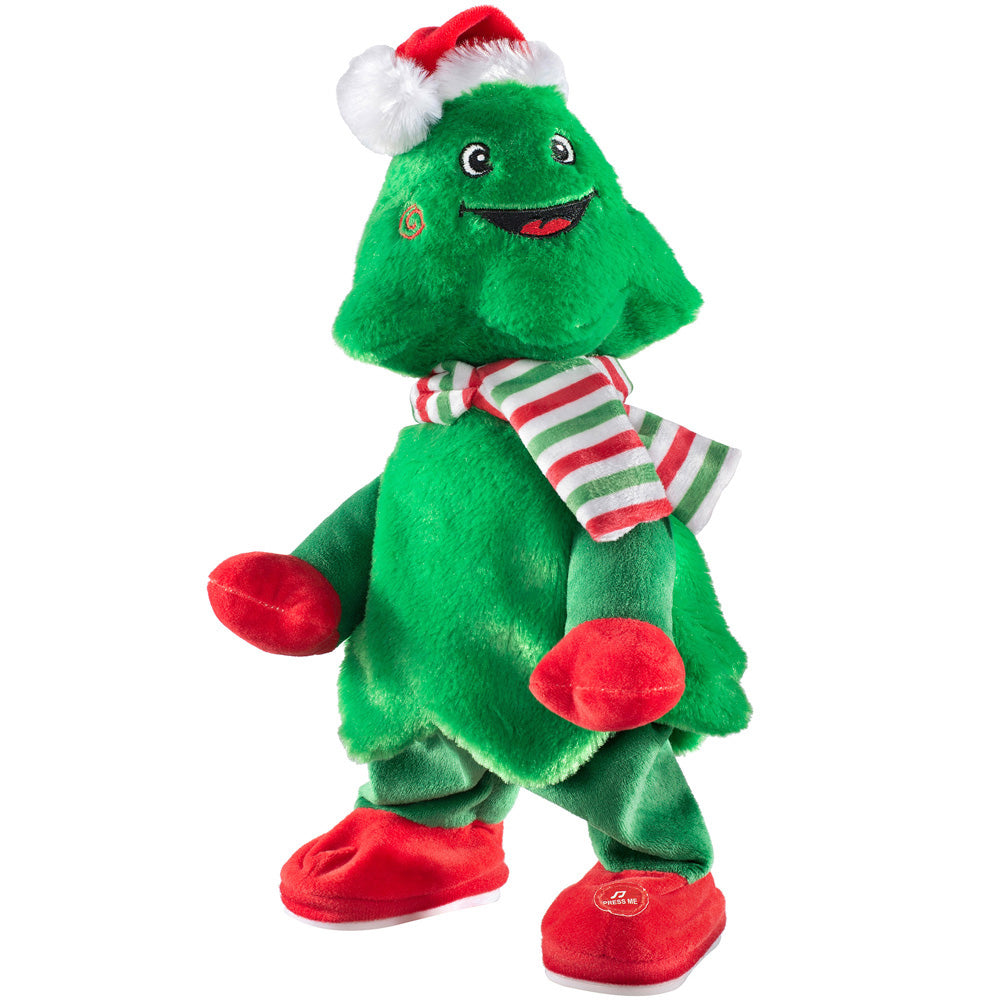 Singing and Dancing Christmas Tree Decoration, Head and Body Moving, Christmas Party Music, Green