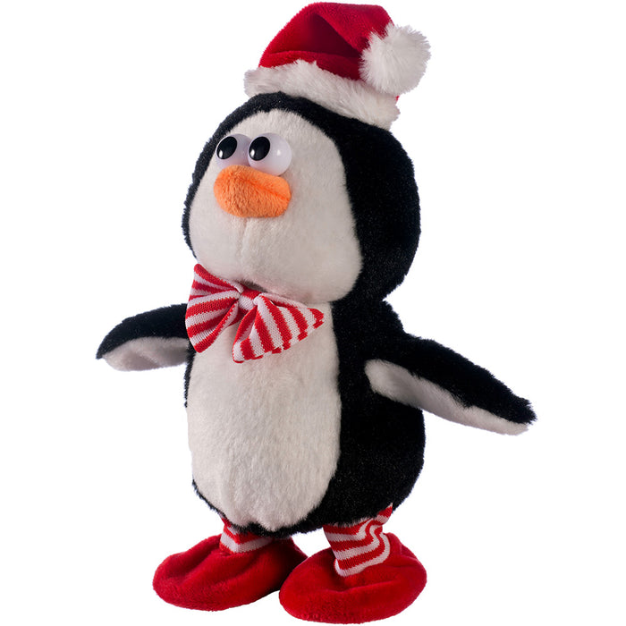 Walking and Talking Dancing and Singing Penguin Christmas Decoration - 21 cm