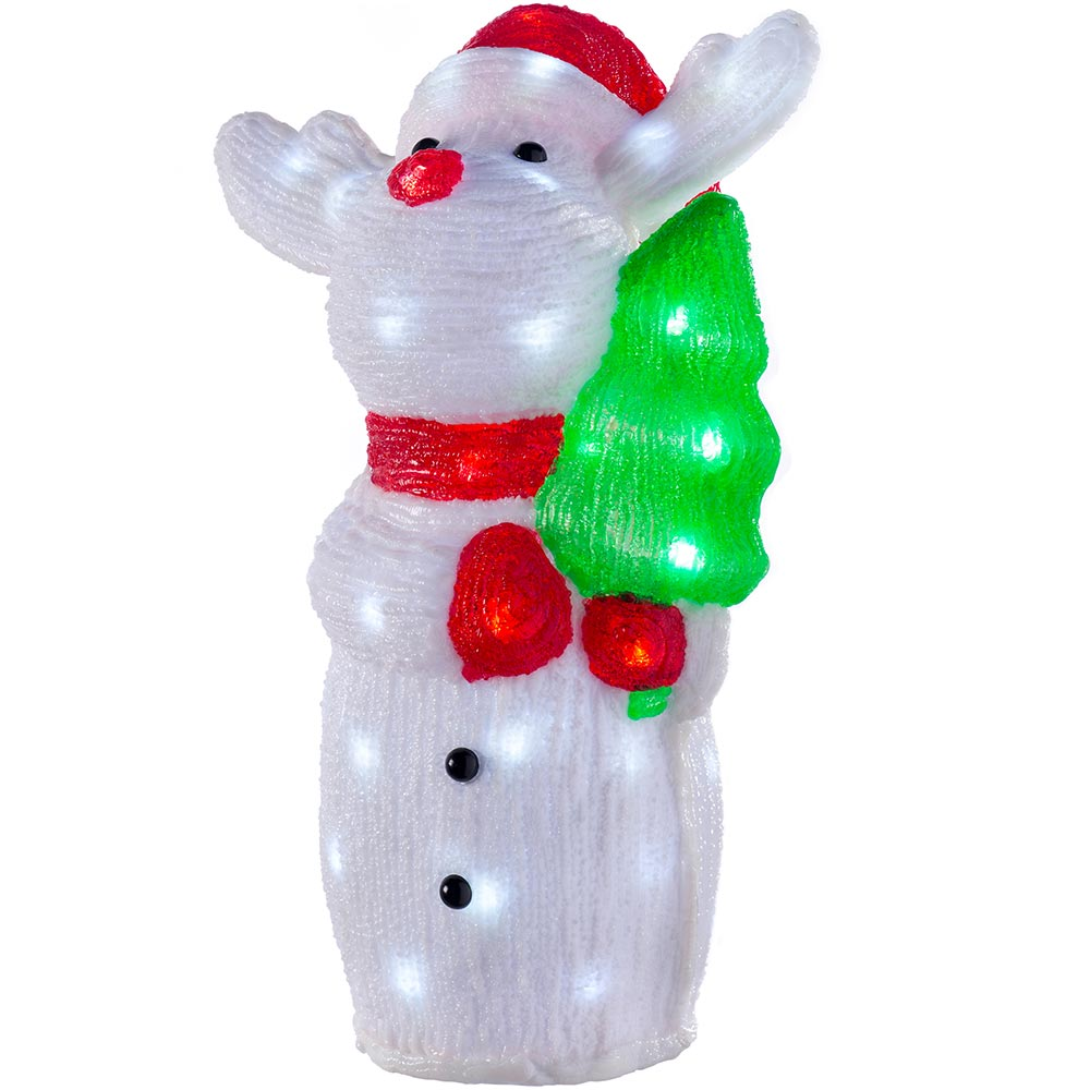 Acrylic Christmas Decoration with LED Lights